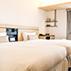 京都の観光、ビジネスの拠点としてご宿泊に最適。ホテル京阪京都駅南のスタンダードツインルーム