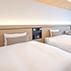 京都の観光、ビジネスの拠点としてご宿泊に最適。ホテル京阪京都駅南のモデレートツインルーム